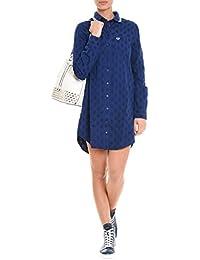 Fred Perry Femme D8639126 Bleu Coton Robe