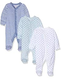 Mothercare Baby Boys Blue Towelling Sleepsuits - 3 Pack Bodysuit