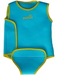 Babysun Linge de Toilette Combinaison Anti UV Bleu