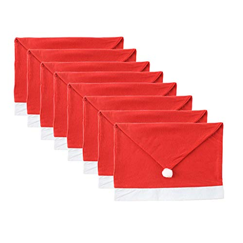 Huacat Hussen Weihnachten Stuhlabdeckung Stuhl Back Cover Weihnachtsmann Red Hat Weihnacht sdekoration für Home Year Decor