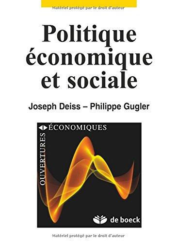 Politique économique et sociale par Joseph Deiss