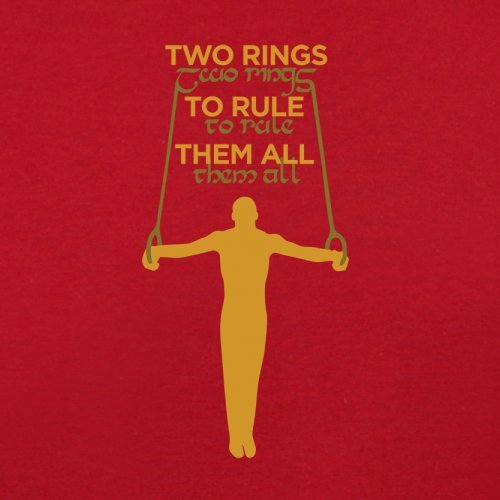 Two Rings To Rule Them - Herren T-Shirt - 13 Farben Rot