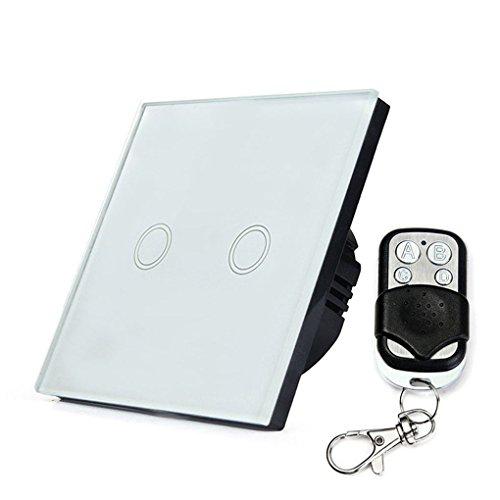Onepeak Wand Touch Schalter Fernbedienung Licht Panel EU Wireless Sensor Ein/Aus 2 Gang RF433 240 V Smart Controller (Ändern Schalter Licht Wand Sie)