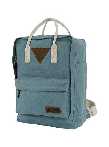 Ansvar II Rucksack aus Bio Baumwoll Canvas - Hochwertiger Damen & Herren Tagesrucksack aus 100% nachhaltigen Materialien - Wasserabweisend - Rucksack mit GOTS & Fairtrade Zertifikat, Farbe:petrol