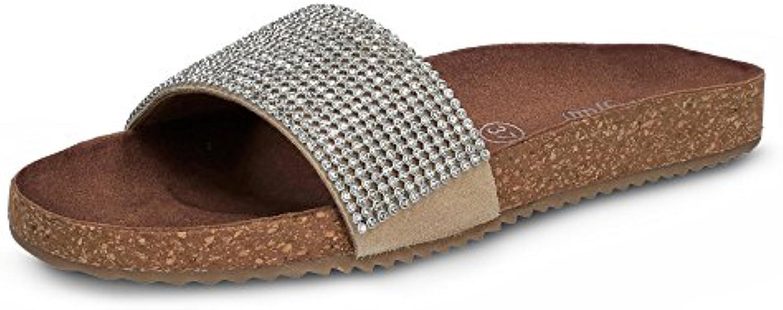 Buffalo Damen Pailletten-Pantolette 2018 Letztes Modell  Mode Schuhe Billig Online-Verkauf