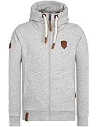 Naketano Male Zipped Jacket Birol IX Grey Melange, XXXL