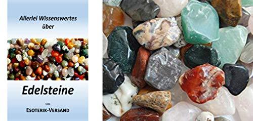 Edelsteine, anpolierte Trommelsteine, Free Form Chips, bunte Mischung, Größe ca. 2-3 cm, 1 kg-Beutel, incl. 36seitige Broschüre Chip Form