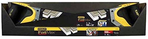 Stanley FatMax Gen2 Appliflon Gipskartonsäge (550 mm Länge, 7 Zähne/Inch, Tri-Material-Handgriff) 2-20-534