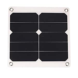 SLB Works 2A 10W 5V Solar Power Panel External Mobile Phone Battery Sun Panel Charger wit5