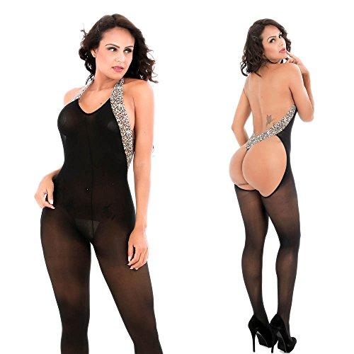 Completi Intimi Prospettiva,Kword Moda Donna leopardo appeso collo Bodystockings Sexy Intimo