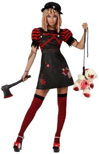 Atosa 8422259149170 - Verkleidung Blutige Puppe Erwachsene, Größe: 34/36 (Puppe Make Up Kostüm)
