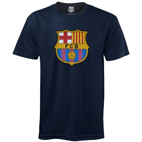 FC Barcelona - Camiseta oficial para hombre - Con el escudo del club - Azul - XL