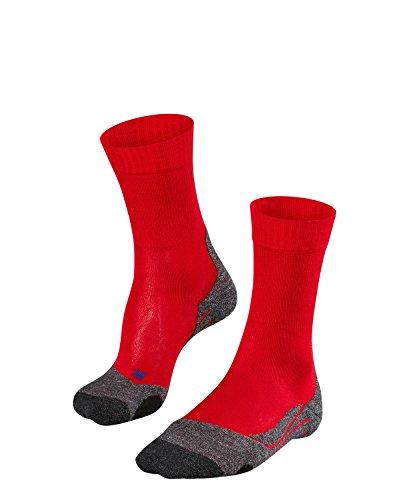 FALKE TK2 Cool Damen Trekkingsocken / Wandersocken - rot, Gr. 35-36, 1 Paar, kühlende Wirkung, mittlere Polsterung, feuchtigkeitsregulierend