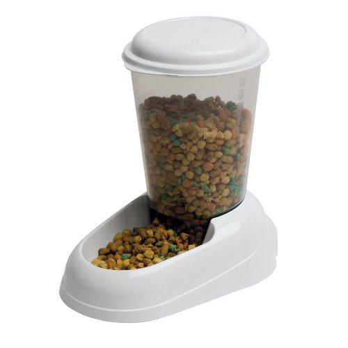 *Ferplast 71970099W1 Futterspender ZENITH, für Katzen und Hunde, Maße: 29,2 x 20,2 x 28,8 cm, 3 Liter, weiss*