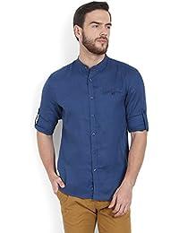 Celio Men Blue Solid Cotton Shirt - B06XDC7M3P