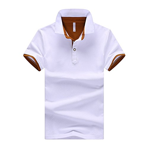Yra Männer Shirt Baumwolle Formale Slim Polo Kurzarm Herren T-Shirt Business Arbeit,N-M