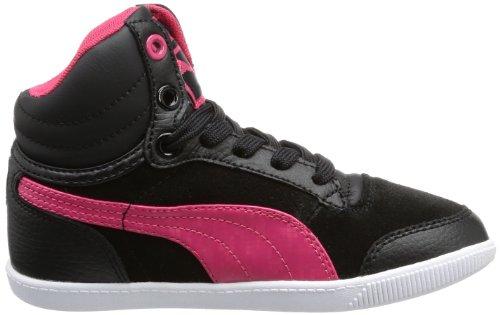 Puma Glyde court Jr, Sneaker a collo alto unisex bambino nero (Schwarz (black-virtual pink 01))