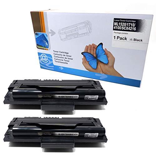 2X Toner (ersetzt ML1520/ 1710/4100/ SCX4216) für Samsung ML-1500-1755 SF-560-755P Xerox 3130-3210 SCX-4116-5216 Series -