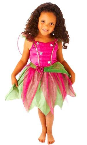 erdbeerloft - Mädchen Karneval Kostüm- Tinkerbell Prinzessin Engel Fee Elfe Märchen, grün pink, 4-6 Jahre