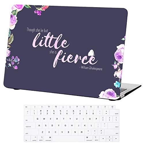 HDE Schutzhülle für MacBook Air 33 cm (13 Zoll) 2018 [A1932] Designer Print Cover Hard Shell Keyboard Skin für Apple MacBook Air 13 mit Retina Display Touch ID violett She is Fierce 13 Inches Designer Print-cover