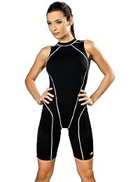 Gwinner Badenzug Sportbadeanzug Trainingsanzug mit verlängerten Beinen für Damen, ideal für Sport- und Leistungschwimmen, sehr bequem und elastisch, aus hochwertigem Material made in EU Daniela