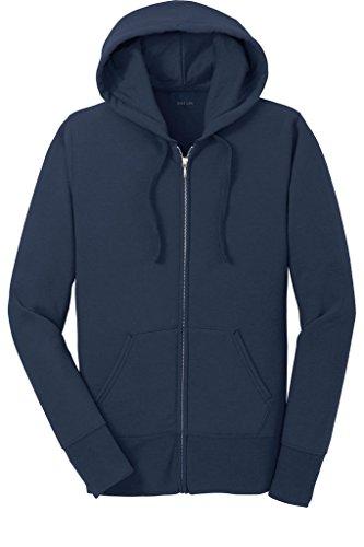 Joe's USA Damen Kapuzen-Sweatshirts Core Fleece Full Zip Hoodie in Größen XS-4XL - blau - 58/60 DE 4XL -