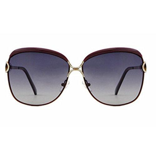 Schützen Sie Sich gegen UV-Strahlen Damen Sonnenbrille Star Retro Polarizing Sonnenbrille Brille (Farbe : Braun)