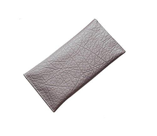 H&W Donna Moda Bifold Pelle Portafoglio Grigio viola chiaro