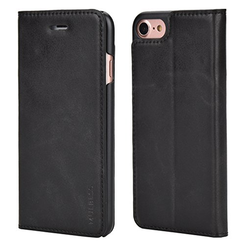 Custodia-iPhone-7-Cover-iPhone-7-Mulbess-Portafoglio-Protettiva-Custodia-In-Pelle-Con-Supporto-Per-Apple-iPhone-7-47-pollice-Custodia-Pelle-Nero