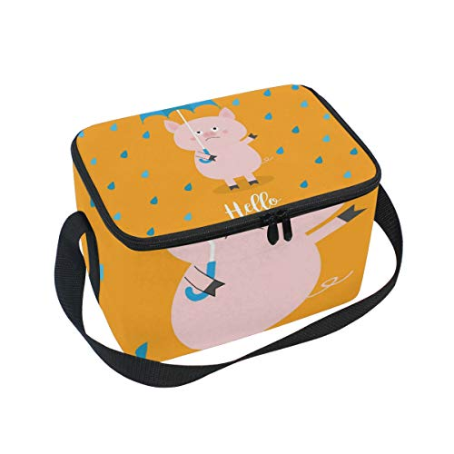 SKYDA Lunchpaket Box Insulated Lunchpaket Bag Large Cooler Rain Pig Tote Bag for Men, Women, Girls, Boys (Womens Rain Insulated)