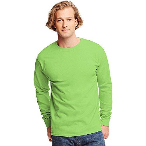 Hanes Tagless Long-Sleeve T-Shirt Lime