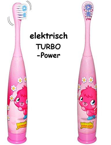 """elektrische Zahnbürste - """" Moshi Monsters - Poppets Katze """" - Kinder & Baby / Batterie betrieben - hochwertige Borsten - Kinderzahnbürste & Babyzahnbürste - Mädchen & Jungen - zum Hinstellen / Aufstellen - Putztrainer - Zähne putzen - elektrisch Kleinkinder / Kaninchen - Pc Spiel / Comic - Zahnbürsten / Zähneputzen lernen"""
