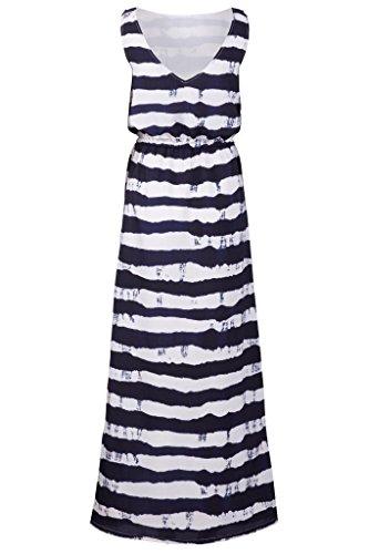 Sugarhill Boutique Robe maxi nautique Navy Blue White