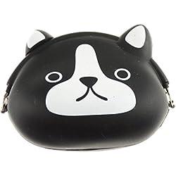 Glamour Girlz–niñas Super lindo gato negro silicona Jelly cartera monedero