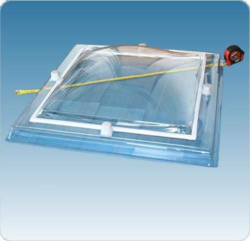 Lichtkuppel Megalux quadratisch Tageslichtmaß 70x70cm (OLW) 2 Schalen Acryl-PMMA Klar
