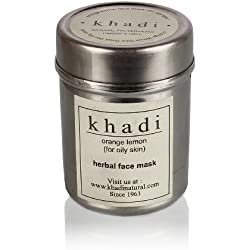 Khadi Orange and Lemon Face Mask for Oily Skin, 50g