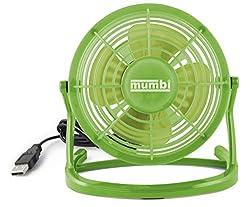mumbi USB Ventilator, Mini Fan für den Schreibtisch mit Ein/Aus-Schalter, grün