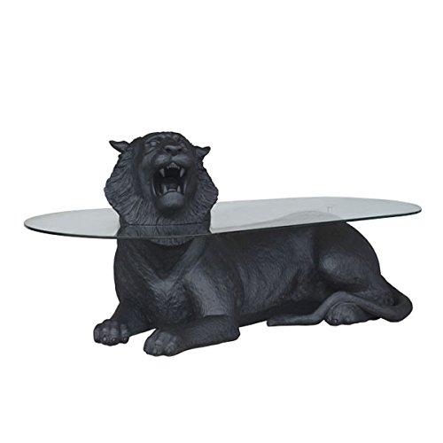 Allongé Tiger Noir comme table basse lebensgroß 75 cm pour l'extérieur en fibre de verre haute qualité plastique (GFK)