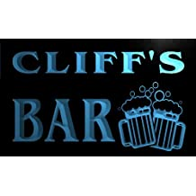 Cartel Luminoso w012058-b CLIFF Name Home Bar Pub Beer Mugs Cheers Neon Light Sign