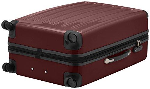 HAUPTSTADTKOFFER - Alex - Hartschalen-Koffer Koffer Trolley Rollkoffer Reisekoffer Erweiterbar, 4 Rollen, TSA, 75 cm, 119 Liter, Burgund - 4