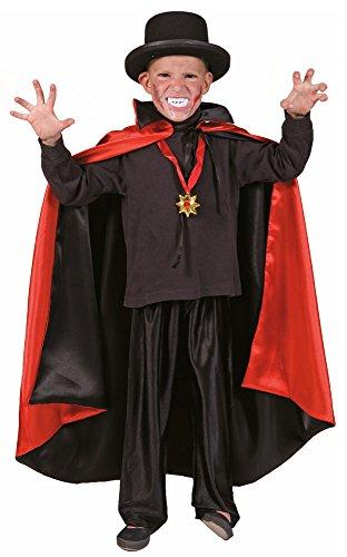 (Das Kostümland Vampir Umhang für Kinder Gr. 128)