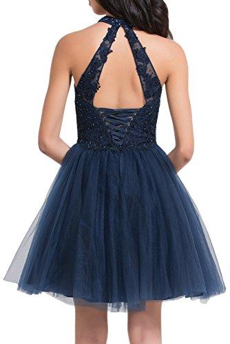 Gorgeous Bride Hochwetig Rundkragen Mini A-Linie Brautjungfernkleider Prom Partykleider 2017 Damen Festlich Abendkleider Kurz Cocktailkleider Ballkleider Dunkelrot