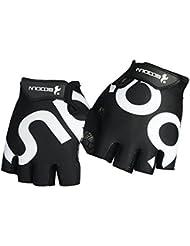 Gants de fitness, Hicool résistant à l'abrasion Mitten exercice, Skid gants résistant demi de doigts pour levage de poids, Croix de formation, vélo d'exercice et plus de sport