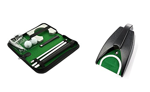 posma pg020 a Bundle Set Tragbares Golf Putter Set Kit Mit Ball hole-cup für Reisen Indoor Golf Putting (1-Set) + Golf Automatik-Putting-Cup (1 Stück) -