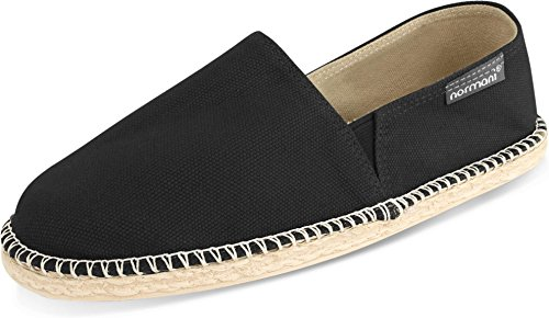 normani Sommerschuhe für Damen | Espadrille mit Praktischem Baumwollbeutel Farbe Black Größe 41 EU
