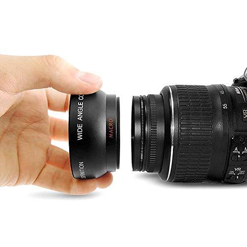 Andoer HD 0,45 x 52MM Weitwinkel-Objektiv mit Makro-Objektiv für Canon Nikon Sony Pentax DSLR-Kamera 52MM