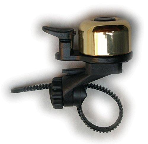 CRANE Adjustable Flex Titus Band Brass Bell by Cyclone Bicycle - Brass Crane