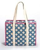 Prym All-in-one Tasche Large Dots Leinen L Handarbeitstasche, Canvas, hellblau, beige, rosa, L