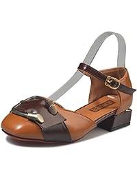 DIMAOL Zapatos de Mujer Otoño PU Confort Talones Bajo el Talón Ronda Toe Conjunta Dividida Por Casual Beige Verde...