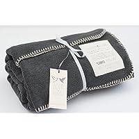 Born Peaceful Cosy Hygge Blanket Charcoal Grey  58fd9f18f0d90